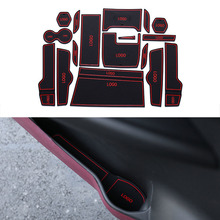 17Pcs/Set Car Styling Slot Pad Interior Door Groove Mat Latex Anti-Slip Cushion For Honda 10th Civic 2016 Car Internal Dedicated