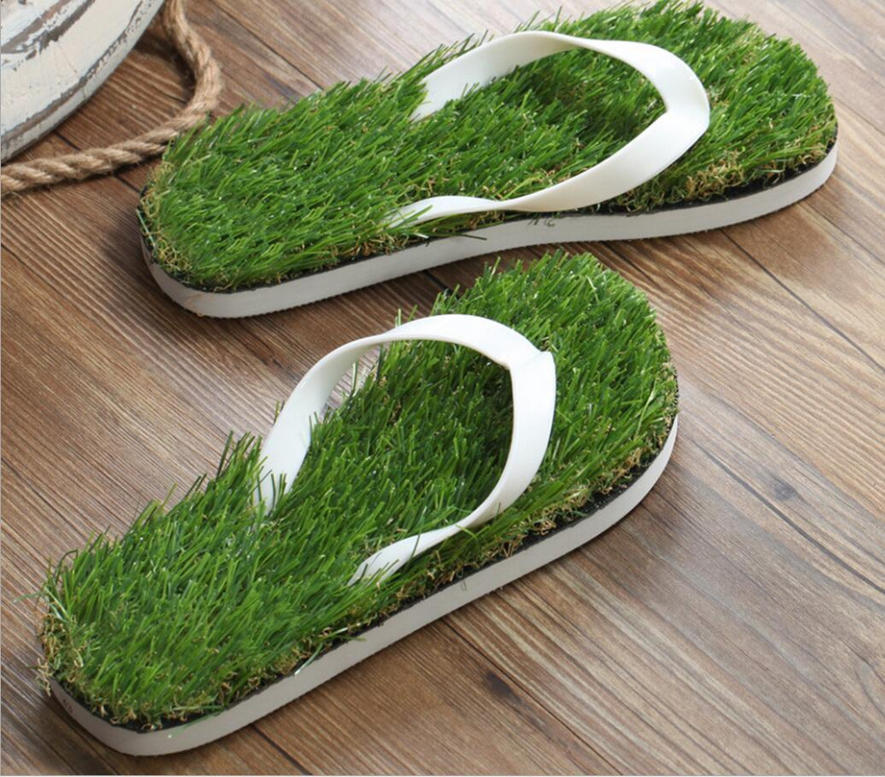 2017 new lawn word slippers individual grass slippers summer woman shoes PU Women's Slippers flip flops plus size35-43 doershow italian shoes with matching bags for party shoes and bags to match set high quality lady matching shoes and bag hzo1 10