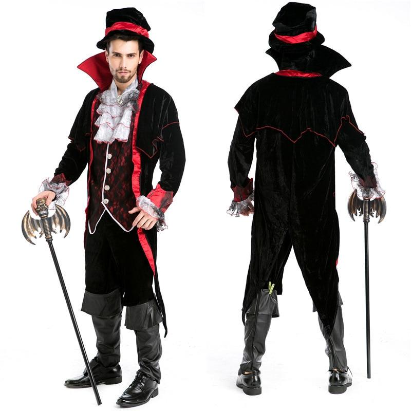 halloween custumes for men adults luxury man vampire masquerade diary vampire king dracula cosplay victorian period - Clothes Halloween
