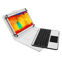 Detachable Removable Wireless Bluetooth Keyboard Leather Stand Case Cover Touchpad For Apple IPad 2 3 4
