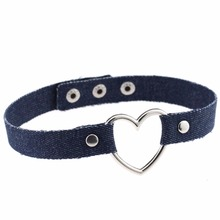 Heart Pendant Jeans Choker