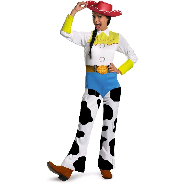 Free shipping Toy Story Jessie Cosplay costume set top+pant+hat toy story and beyond jessie costume toy story3 child buzz costume cowgirl toy story jessie tunic tank dress toddler dresses