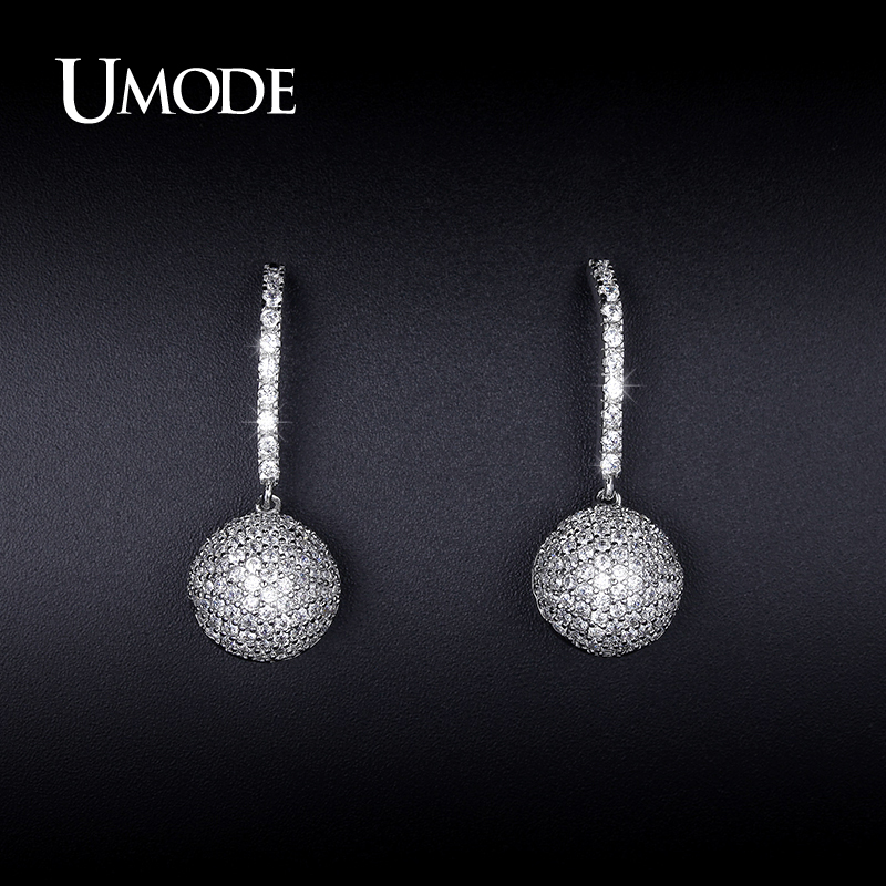 UMODE Crystal Stud Earrings For Women 2017 Newest CZ Brincos Grandes Fashion Para Mulheres Bijoux Femme Christmas Gifts AUE0249
