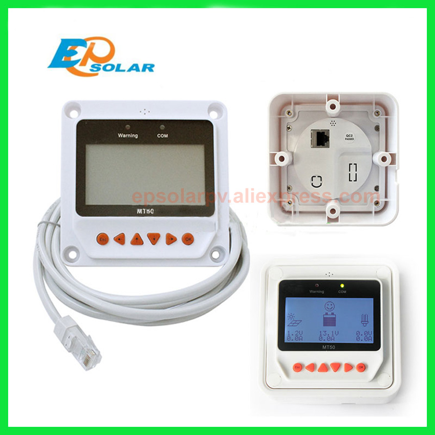 Solar Controller Remote Meter MT-50 for TRACER BN Series MPPT Tracer 2215BN 3215BN 4215BN itracer6415ND VS3024BN EPsolar MT50 sm206 solar power meter for solar research