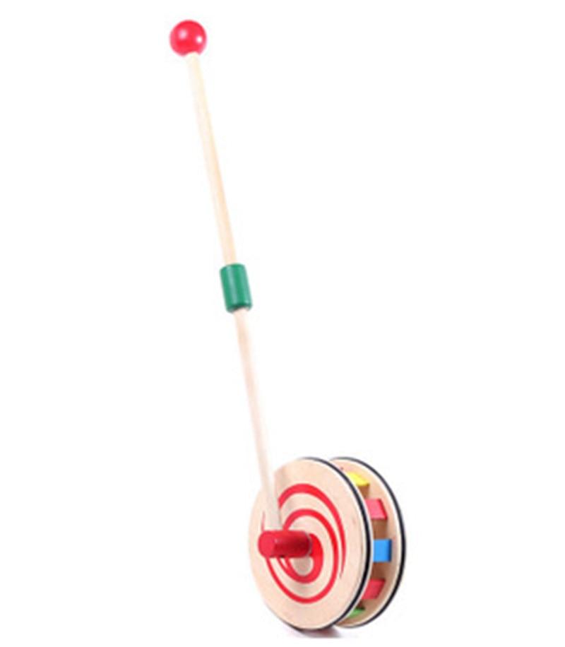 Jauns koka rotaļlieta Rainbow disku rati (bērnu mazuļu klaidonis) koka bloki bērnu dāvanai bērnu izglītojošais rotaļlieta Bezmaksas piegāde