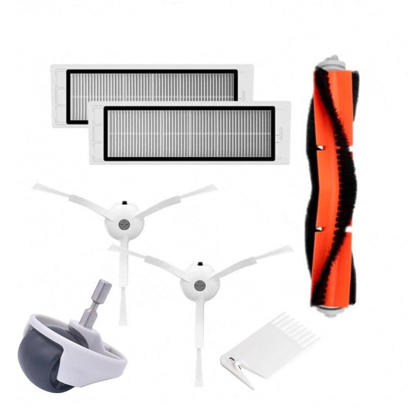 1 Main Brush 2 Piece Filter Wheel 2 Side Brush For Xiaomi Robot Replacement Side Brush Roborock Vacuum Cleaner