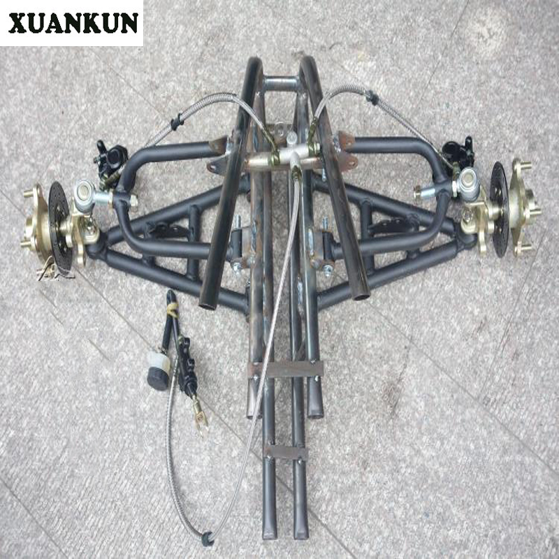 XUANKUN  Modified Three Rounds Of Four Wheeled Motorcycle Front Suspension Rocker Arm Angle Steering Brake System