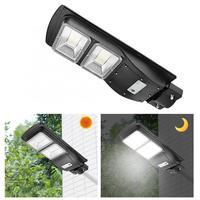 60W LED Solar Streetlight Radar Light Control Motion Sensor Lamp White Light 120Leds For Garden Road Outdoor