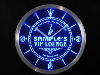 ncqi-tm Name Personalized Custom VIP Lounge Best Friend Only Neon Sign LED Clock Wholesale Dropshipping
