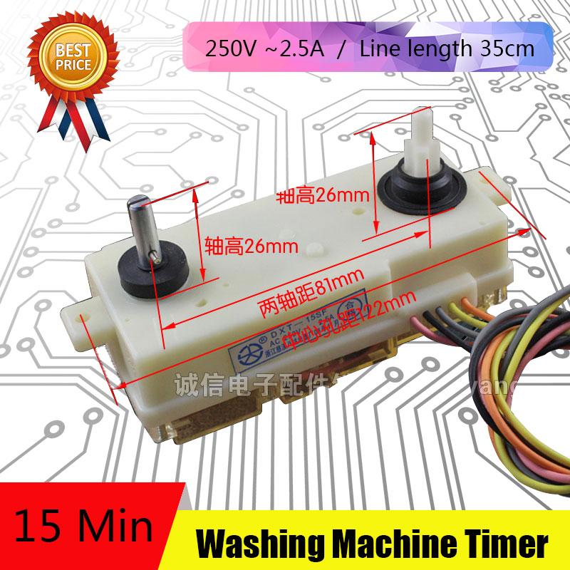 5Pcs 5 Line Washing Machine Parts New Timer Washing Machine Unused Spare Parts DSQXD-3602 washing machine parts heating tube 1600w 2000w 17 5 30cm