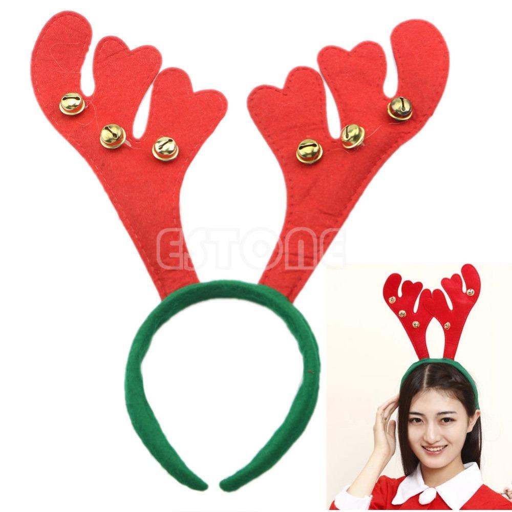 fantasa mujeres nios fiesta de navidad reno de navidad diademas con bells nuevochina