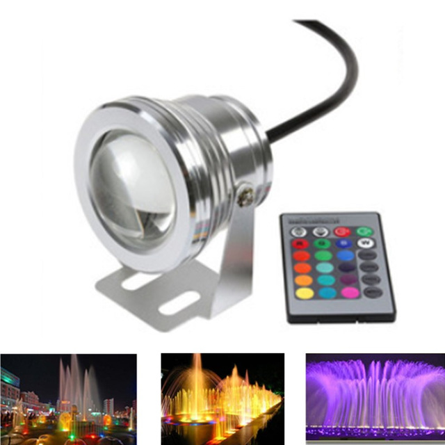 RGB/RGBW/RGBWW LED Underwater Light 10W Waterproof Swimming Pool Light Submersible Spotlight Pond LED Sliver/Black 4pcs/lot