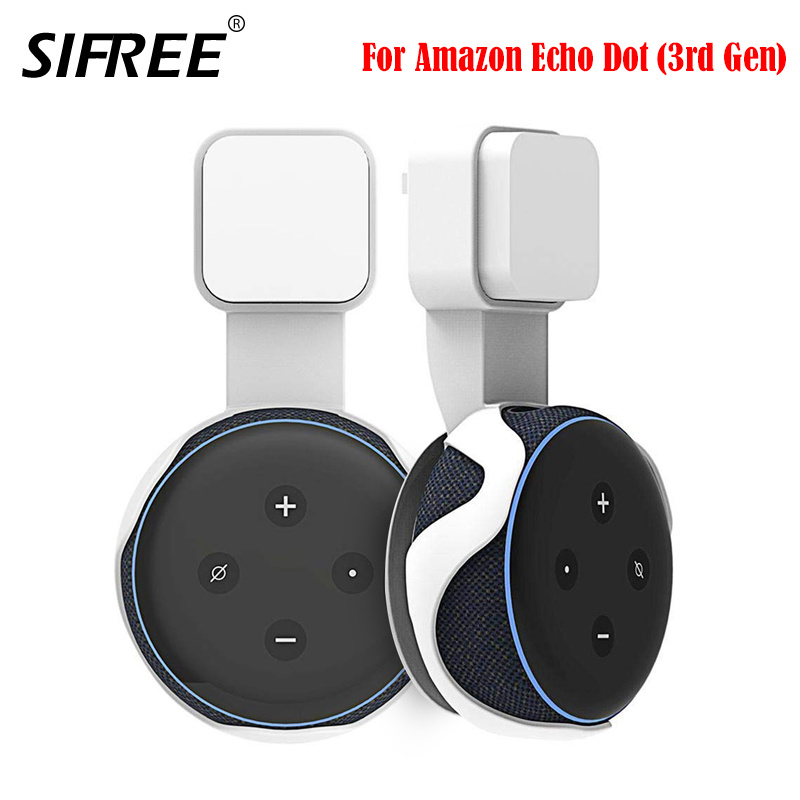 For Amazon Alexa Echo Dot 3nd Generation Outlet Wall Mount Hanger Holder Stand Space Saving Stand Bracket Assistants Accessories