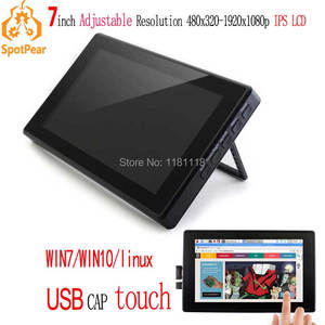 Image 1 - Raspberry Pi 7inch LCD 7 inch USB Capacitive Touch screen HDMI VGA display for computer mini PC adjustable 480x320 1920x1080