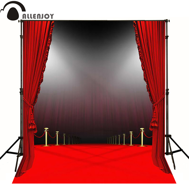 Allenjoy photographic background Red carpet glorious stage photography fantasy send folded fabric vinyl Computer printing