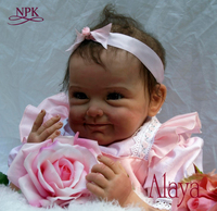 NPK lifelike boneca reborn baby doll soft real touch vinyl silicone toys for children on birthday brinquedo menina
