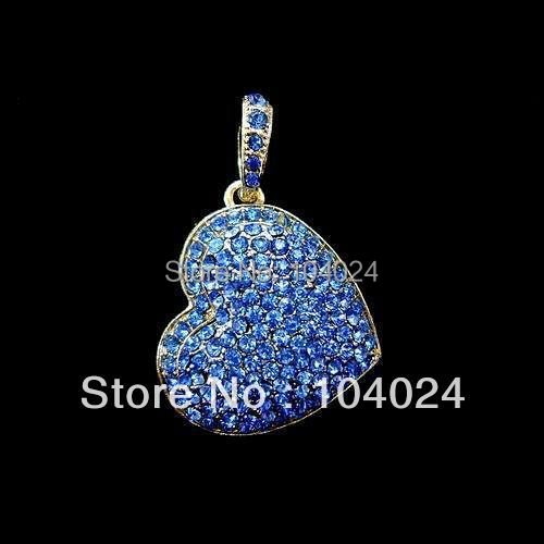 4gb 8gb 16gb 32gb metal entire blue heart shape USB 2.0 flash drive memory pen disk Drop ship dropshipping