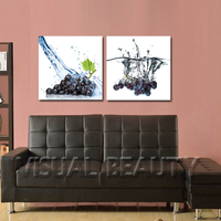 FREE SHIPPING Tasty Grape Oil Painting Printing on Canvas Art Painting(Unframed)50x50cmx2pcs