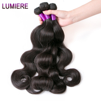 Lumiere Hair Brazilian Body Wave Hair 10 28 Inch Remy Hair 100 Human Hair Weave Bundles