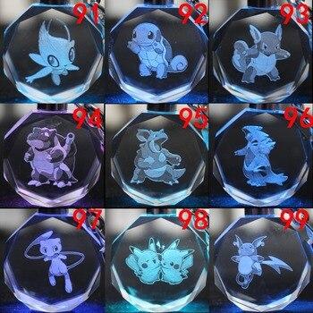 Светодиодный аниме брелок кристалл Покемоны вариант 3