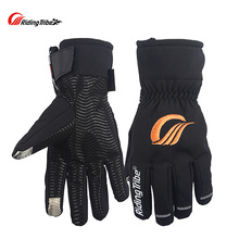 Riding Tribe Winter Motorcycle Gloves Keep Warm With Etended Cuff Protect Wrist Water-proof Touch Screen Riding Glove MTV-06
