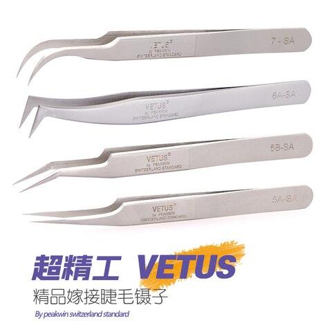 10pcs 100 marca aco inoxidavel superhard anti static pincas pestana ferramenta extensao dos cilios serie