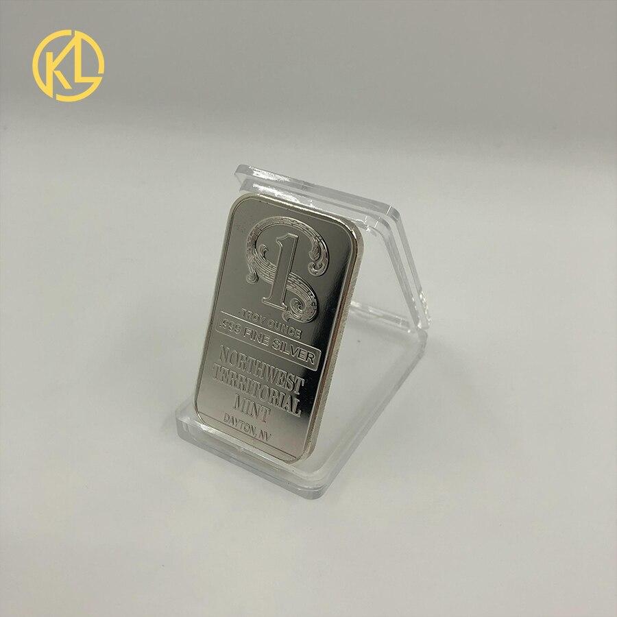 Прямая поставка позолоченная монетница Monero коллекционный подарок Casascius Бит монета Биткоин художественная коллекция физический Золотой памятные монеты - Цвет: Серебристый