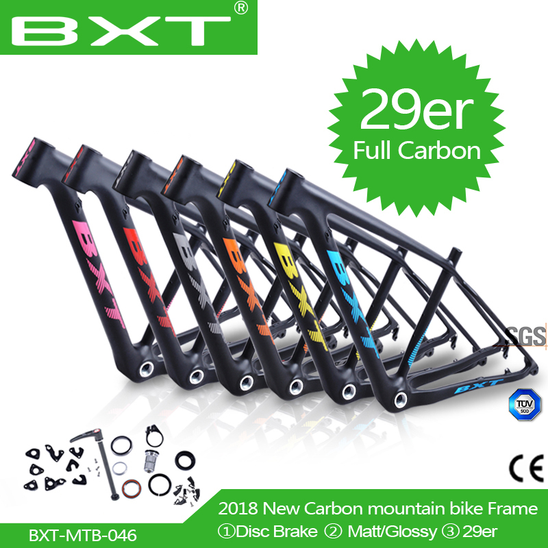 29er Mountain Bike Frame Chinese Carbon Mtb Frame 29er Bicicletas Bike Framest 29 Bicycle Parts Carbon Frame 142*12 Or 135*9mm