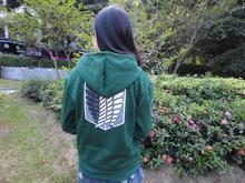 Anime Attack on Titan Cosplay Hoodie Scouting Legion Hooded Green Sweater Costume