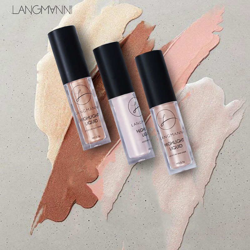 LANGMANNI Makeup Face Glow Liquid Highlighter Contouring Makeup Face Brightener Concealer Primer Base Bronzer Contour Cosmetic