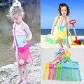 Забавная однотонная сетчатая пляжная сумка для детей  сумка для хранения игрушек в виде морских ракушек  повседневная сумка для маленьких м...