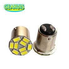 자동 LED S25 P21/5W 1157 스트로브 깜박임 BAY15D 9 SMD 5630 5730 라이트 스트로브 플래시 브레이크 벌브 턴 스톱 램프 화이트 레드 12V