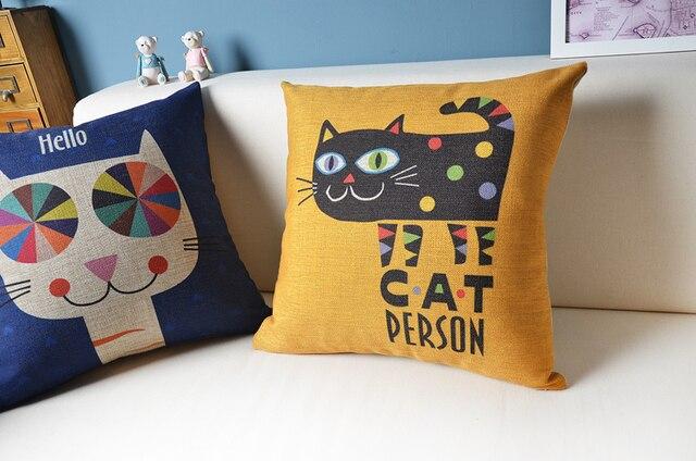 Cat Series Handmde Sofa Pillows Seat Cushion North Europe Summer Simple Office Home Decor Pillow Cushion