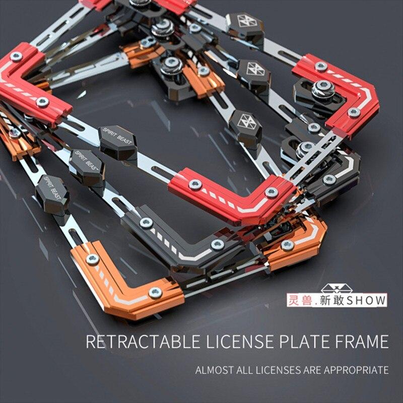 Esprit bête accessoires moto Scooter individualité plaque d'immatriculation cadre plaque d'immatriculation télescopique plaque d'immatriculation