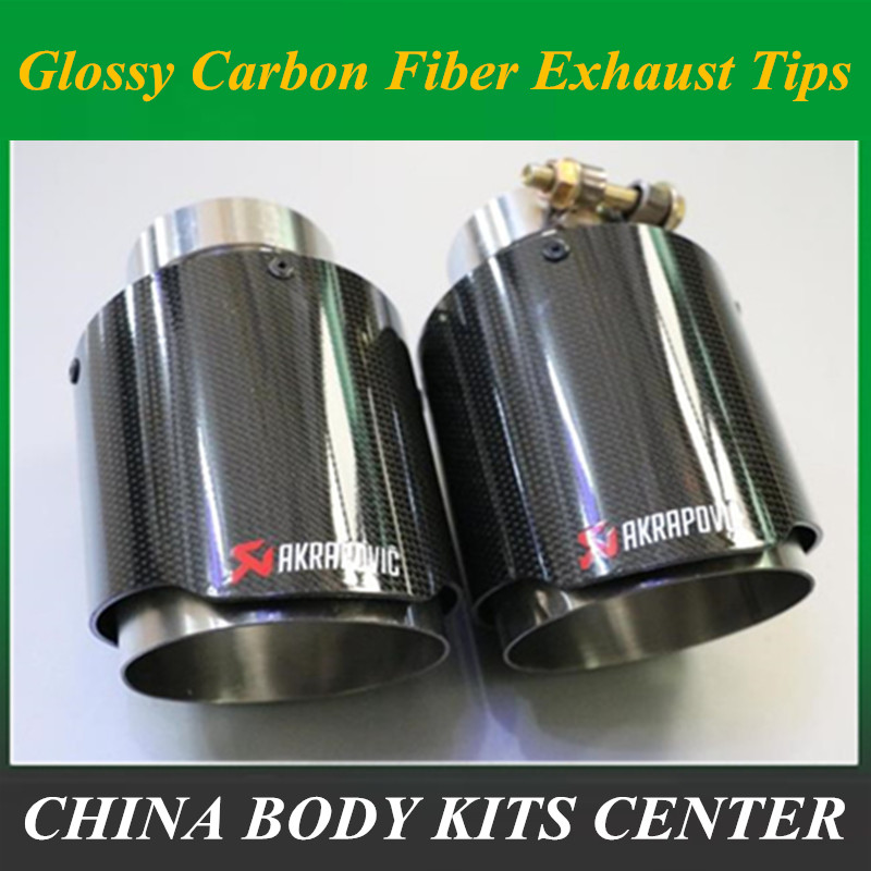 Mufflers For Sale >> Us 36 58 22 Off Factory Sale 101mm Out Glossy Muffler Car Modifide Muffler Pipe Akrapovic Carbon Fiber Exhaust Tip Muffler Stainless Steel In
