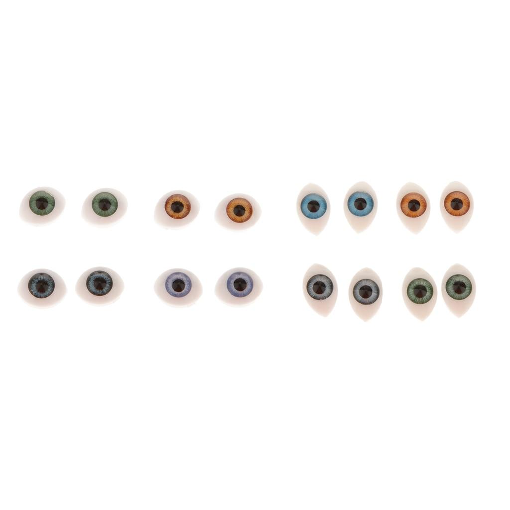 LK/_ 100x Black Plastic Toy Eyes Safety  DIY 6-14mm for Teddy Bear Animal Dolls