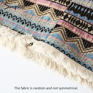 Image 5 - Simplee Vintage spódnica ołówkowa kobiety dół boho chic frędzle etniczna mini spódnica letnia plaża kobiet wysokiej talii krótka spódniczka kobiet