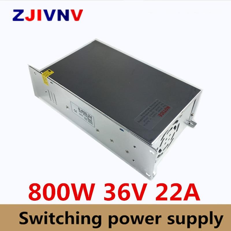 ac-dc 36v Power Supply 22A 800W AC DC Converter 220v 110V LED Driver DC36V Switching Power Supply For Led Light new model ac dc power supply 12v 66a 800w ac dc converter 220v 110v led driver dc12v switching power supply for led light cctv