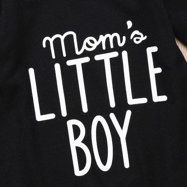 Boy's Mom's Little Boy Printed Jumpsuit 3