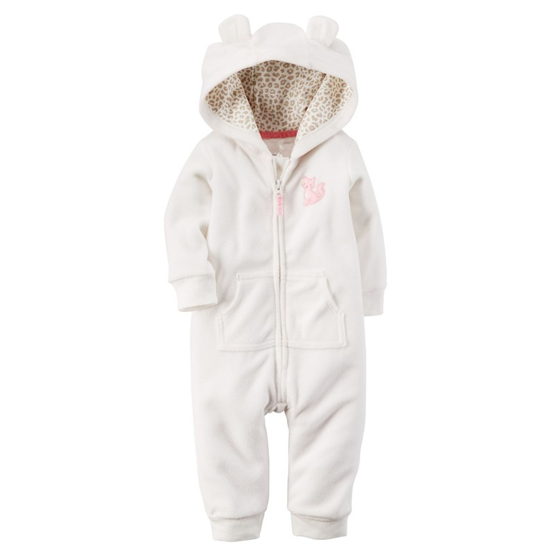 f02403fbc Autumn   Winter Newborn Infant Baby Clothes Fleece Jumpsuit Boys ...