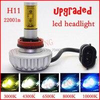 free shipping vehicle H11 LED Head light car LED head lamp 20w 2200lm H11 motorcycle head lights 12 24V 3000K 4300K 6500K