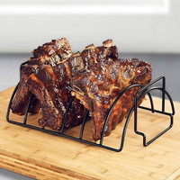 FamyFirst Multifunction Iron BBQ Tools Steak Grill holders Rack Grill Stand Roasting BBQ Rib Chicken Rack Kitchen Accessories
