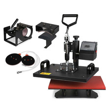 New Digital Pro 8 in 1 Heat Transfer Press Machine T-Shirt Hat Cap
