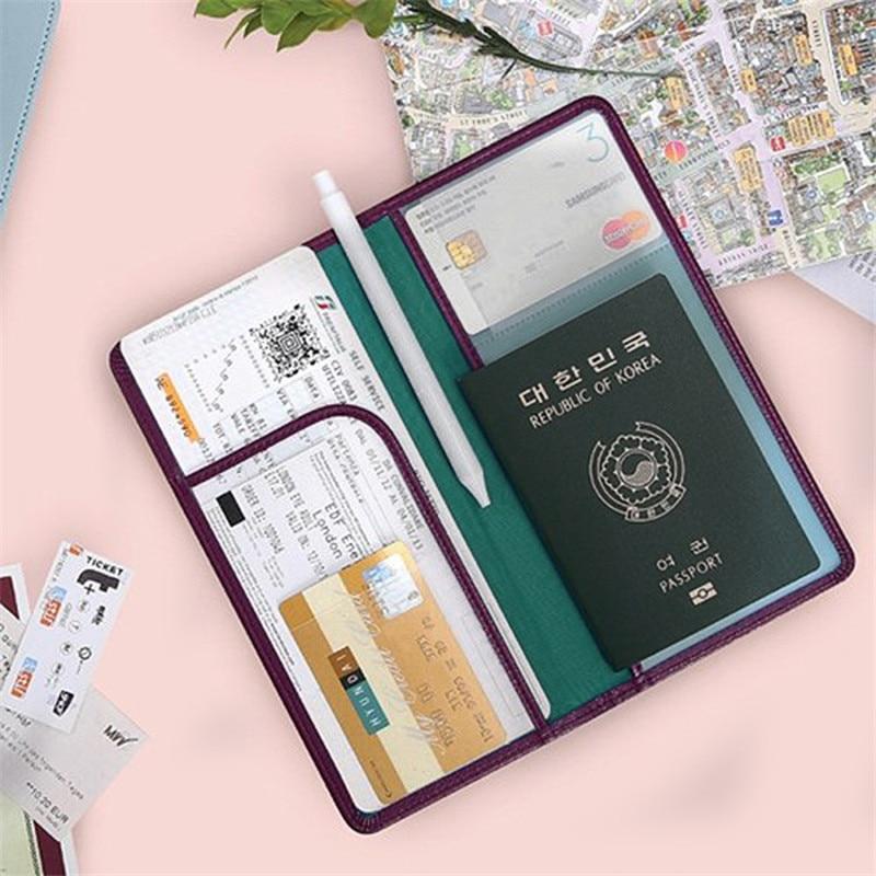 Geldbörsen & Halter 21*10,9 Cm Pu Leder Pass Deckt Hohe Qualität Business Reise Lange Passport Ticket Halter Id Karte Passport Schutzhülle Taschen AusgewäHltes Material