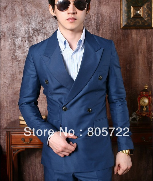 Abiti uomo doppio petto blu – Modelli alla moda di abiti 2018 525639da37b
