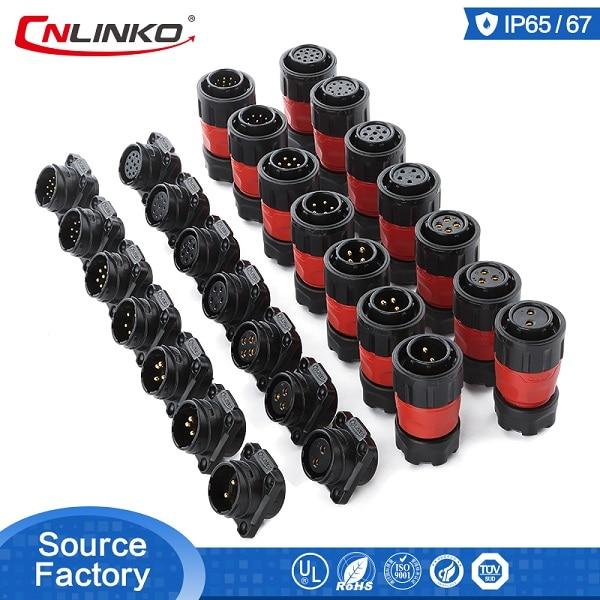2 3 4 5 7 9 12 Pin Waterproof Power Connector PBT Plastic Solder Circular Power Electrical Industrial Male Plug Female Sockets