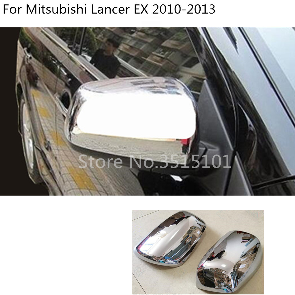 Chrome Side Rearview Mirror Cover Trim For Mitsubishi Lancer Lancer EX 2008-2016