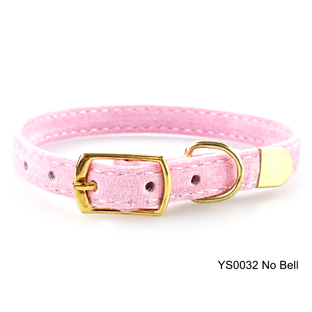 Solid Cat Collar With Bell Safety Cat Collars Adjustable Puppy Dog Collar For Small Dogs Cats Kittens Pet Collar Products YS0032 (9)