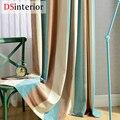 DSinterior tira chenille cortina para janela da sala de estar de luxo custom made