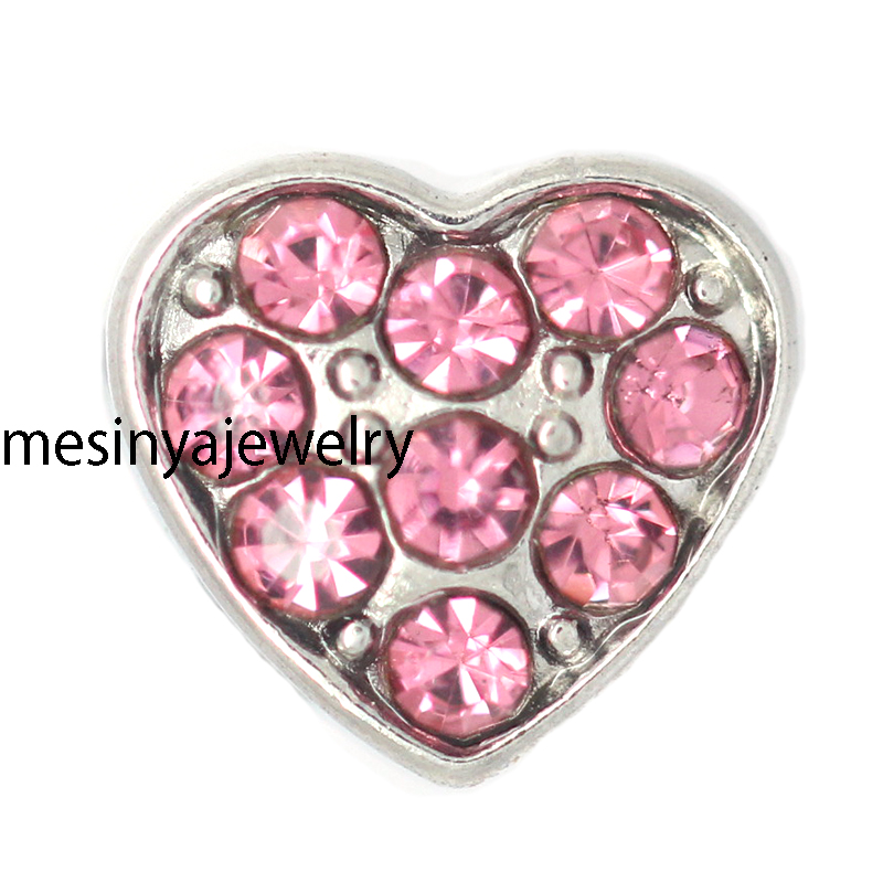 10pcs New arrive crystal heart floating charms for glass locket,FC-1042.Min amount $15 per order mixed items